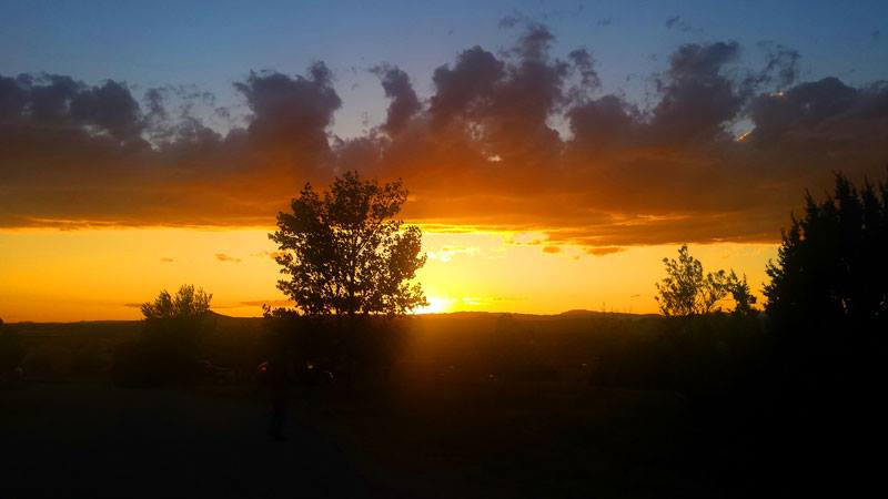 Sunset from our Santa Fe Campground