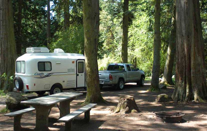 Great camping in the woods