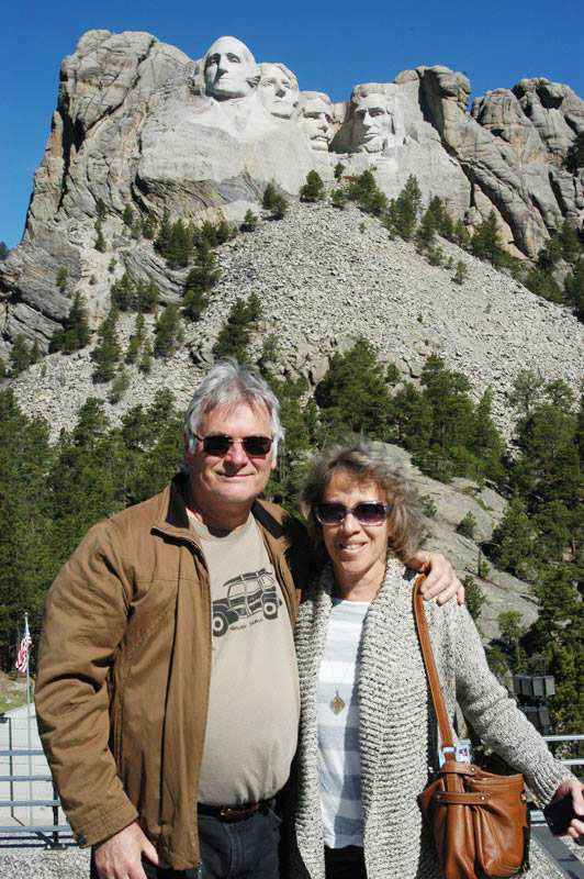Here we are visiting Mount Rushmore.