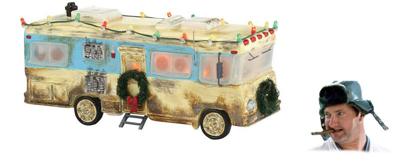 Cousin Eddie's RV decorated for Chrismas
