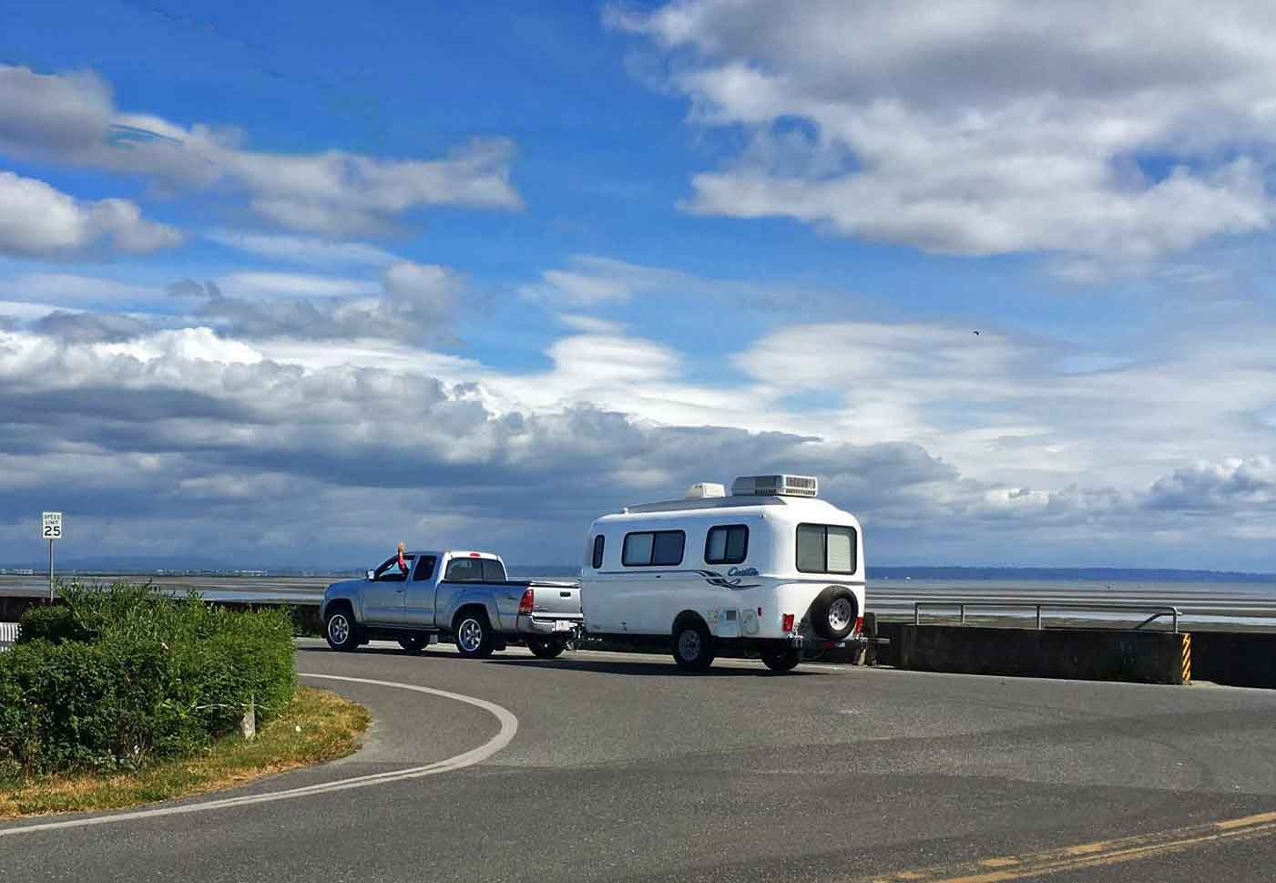 On the road with our Small Travel Trailer