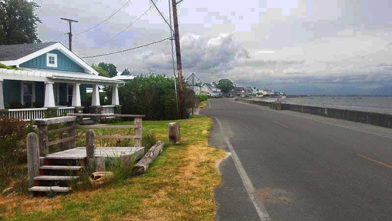 Barb & Wayne's cottage in Point Roberts, overlooking Boundary Bay.  It's been their families vacation spot for over half a century.