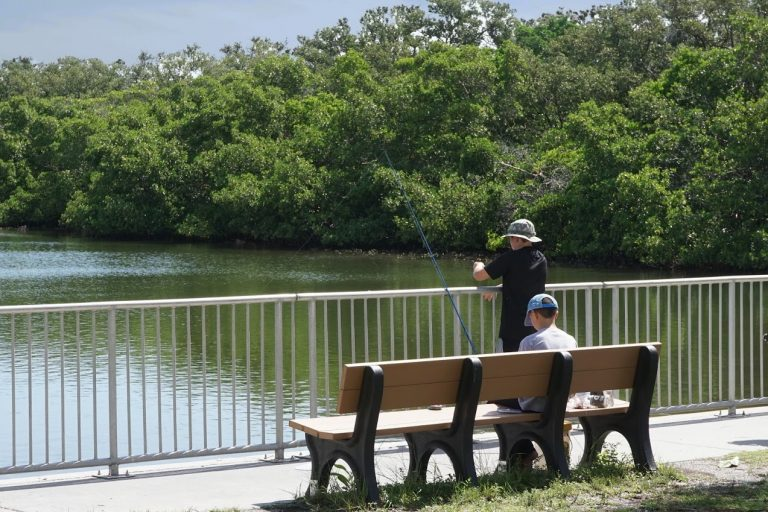 Campground fishing at Fort De Soto