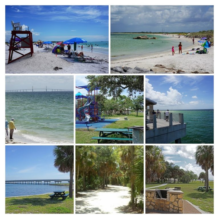 Collage of photos of Fort De Soto