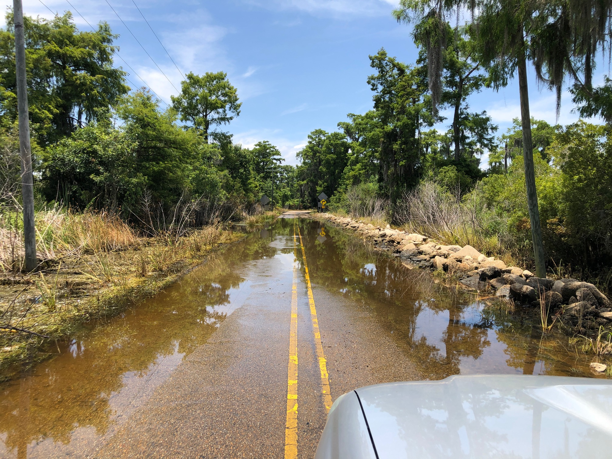 Flooding of the bayou's in Lousiana