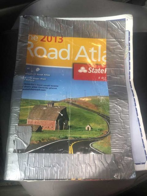 a Road Atlas - the best alternative to using GPS when traveling