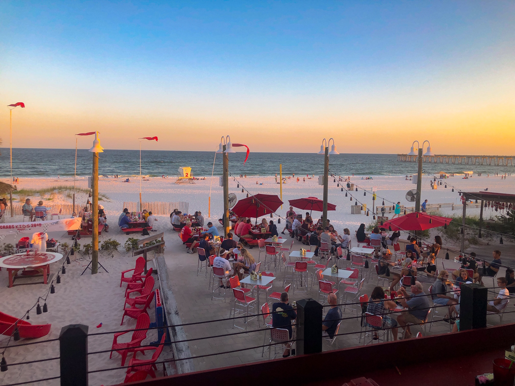 Dinner on Pensacola Beach