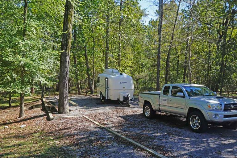 DeSoto State Park campground in Fort Payne, Alabama