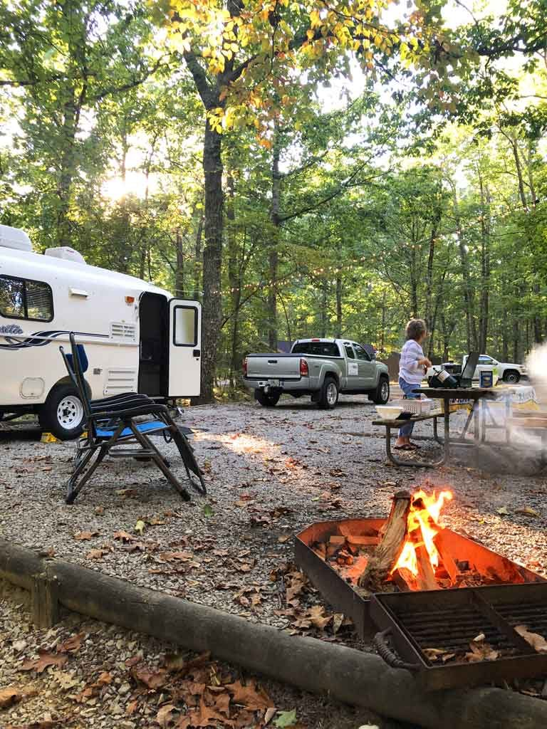 The campground at Monte Sano State Park in Huntsville, Alabama