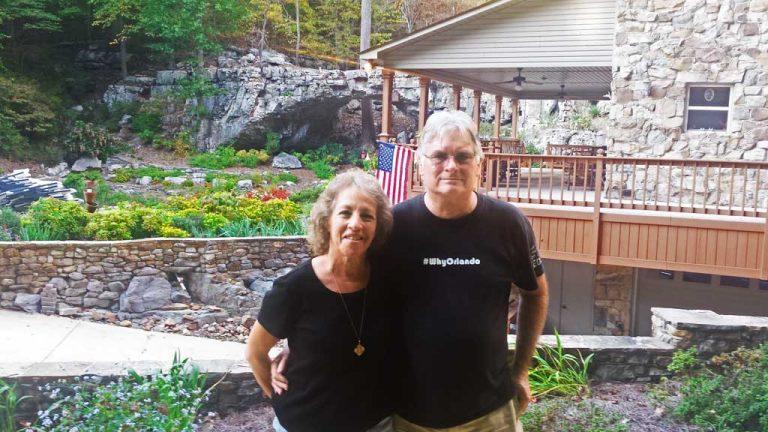 Denny and Fay enjoying northwest Alabama