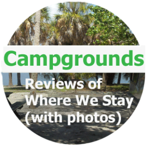 Campground Reviews of where we stay