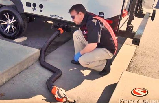 Drain your trailer's black water tank