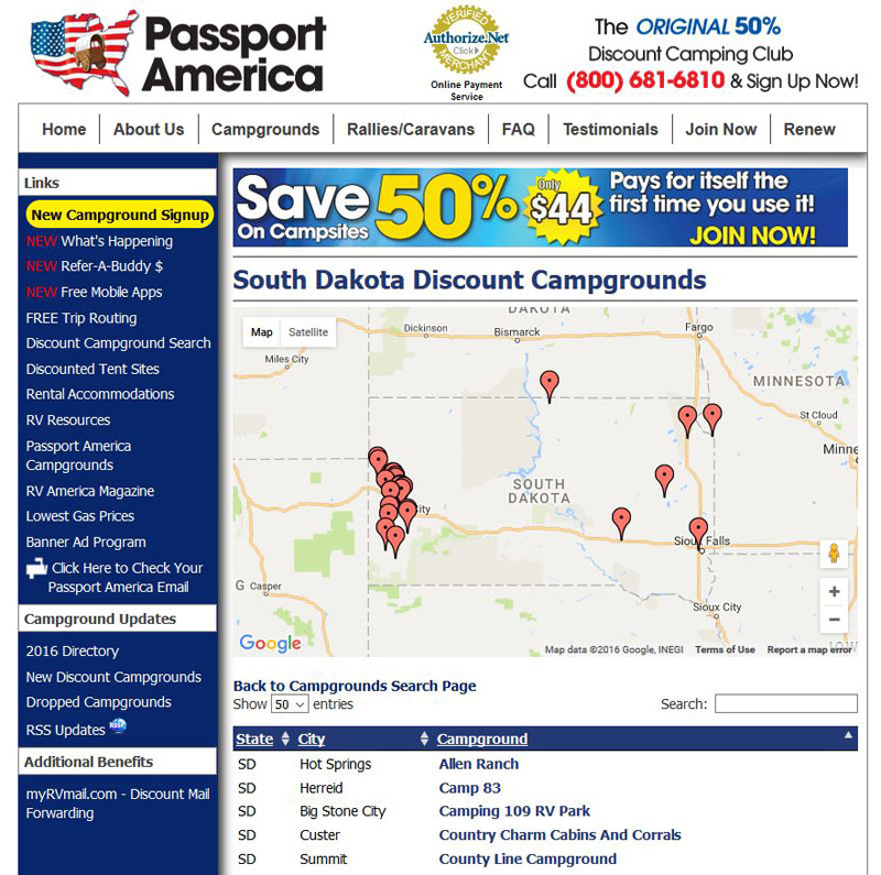 Planning Trips - Passport America