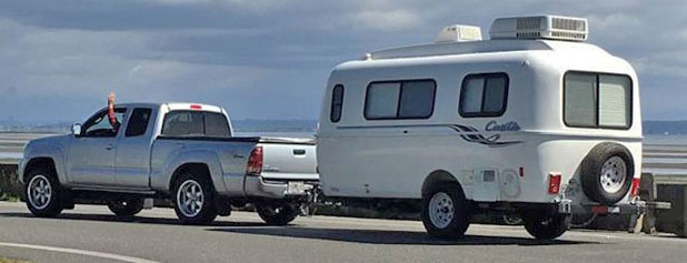 Traveling with a small travel trailer