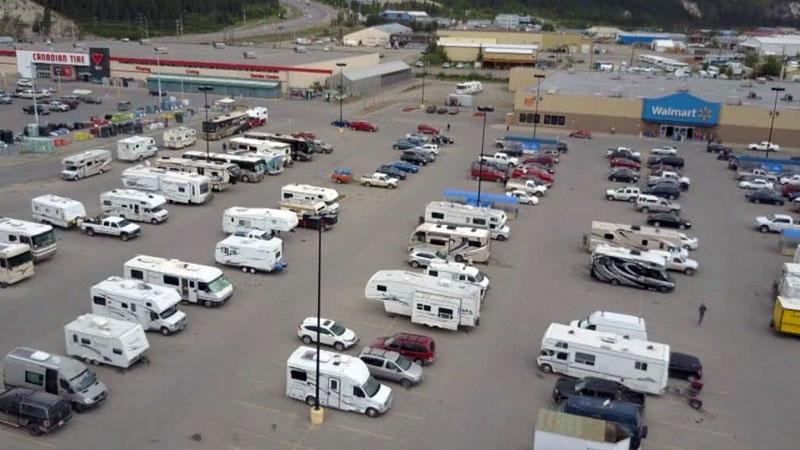 Camping at Walmart