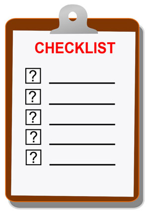 Small Travel Trailer Checklists
