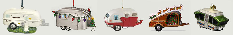 Small Travel Trailer Christmas Ornaments